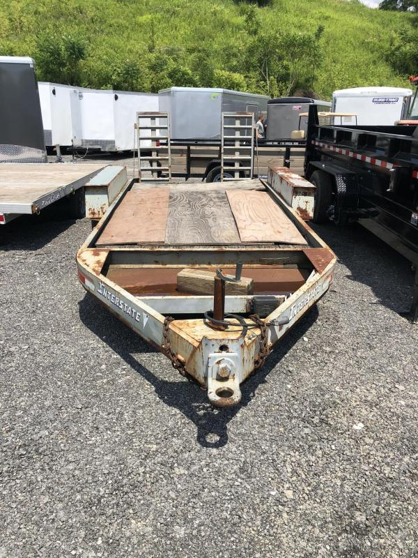 USED 1996 International 7x20' Equipment Trailer