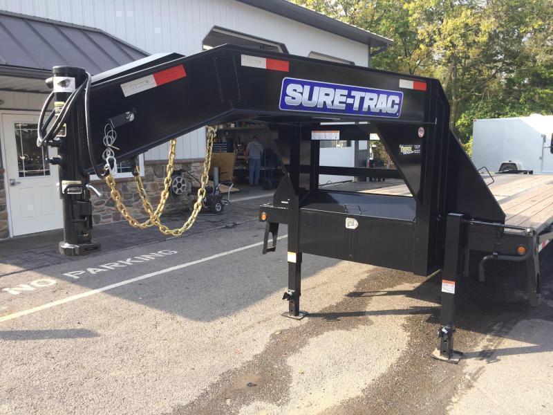2019 Sure-Trac 102x20+5 22K Gooseneck Beavertail Deckover Trailer Pierced Frame