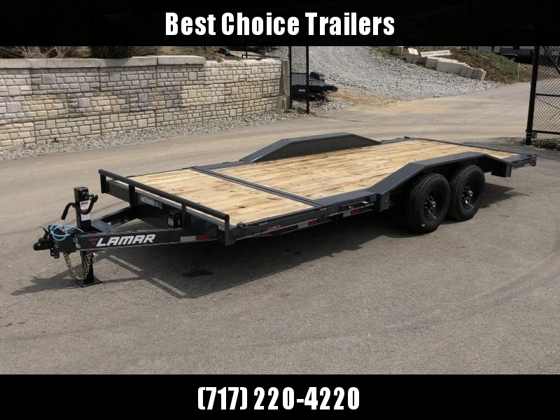 "2019 Lamar Gravity Tilt Equipment Trailer 102x16+4 14000# GVW * Torsion * Stop Valve * 102"" Deck * Drive over fenders * Charcoal w/ black wheels"