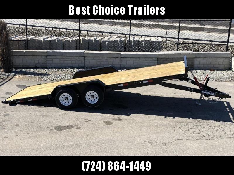 2019 Sure Trac 7x18' 7000# Manual Tilt Car Trailer * ST8218CHWT-B-070