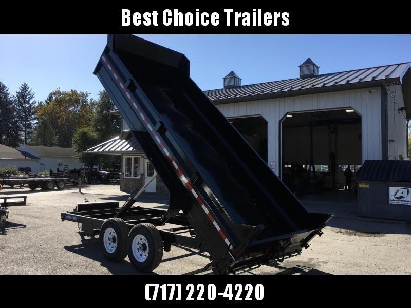 2018 Sure-Trac 7x16' HD LowPro Dump Trailer 14000# GVW - SCISSOR HOIST * FREE ALUMINUM WHEELS