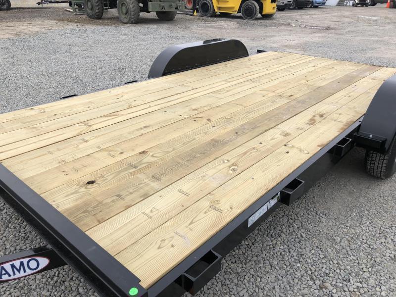 2018 AMO 7x16' Wood Deck Car Trailer 7000# GVW * CLEARANCE