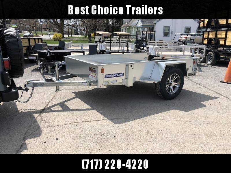 2019 Sure-Trac 5x10' Galvanized High Side Utility Trailer 2990# GVW * CLEARANCE - FREE ALUMINUM WHEELS