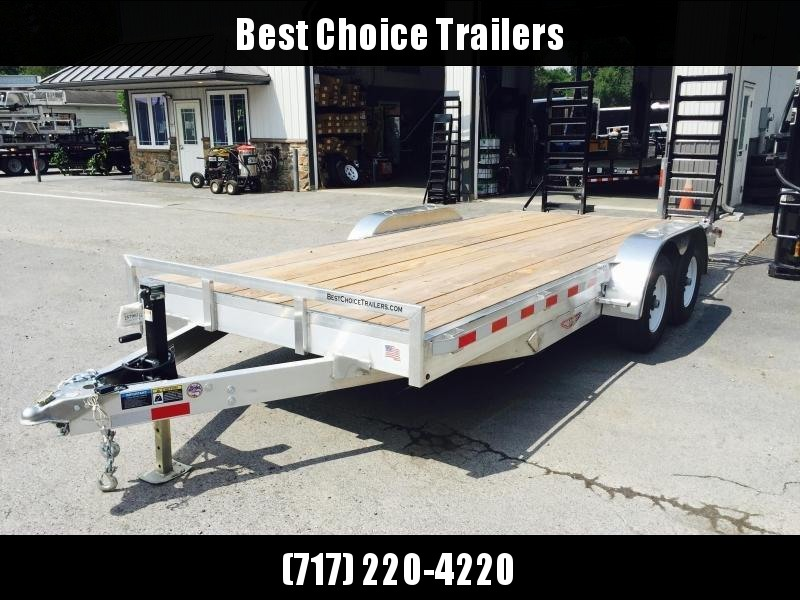 2018 H&H 7x20 HDA ALUMINUM Equipment Trailer 14000# GVW * STAND UP RAMPS * CLEARANCE