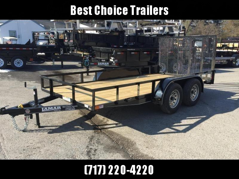 "2018 Lamar 77""x16' Utility Landscape Trailer 7000# GVW * CHARCOAL * CLEARANCE - FREE SPARE TIRE"