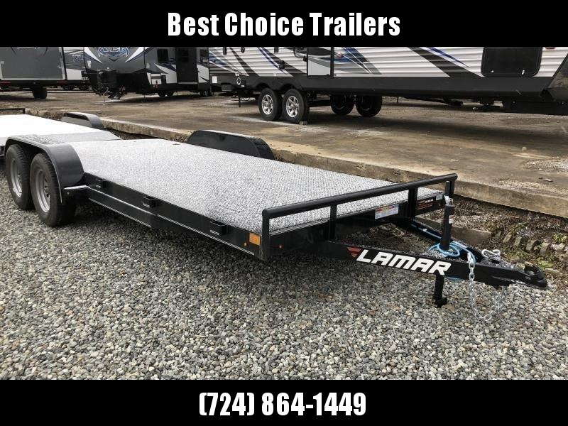 2019 Lamar 7x18' Steel Deck Car Trailer 7000# GVW * 11GA STEEL DECK * CHARCOAL in Ashburn, VA