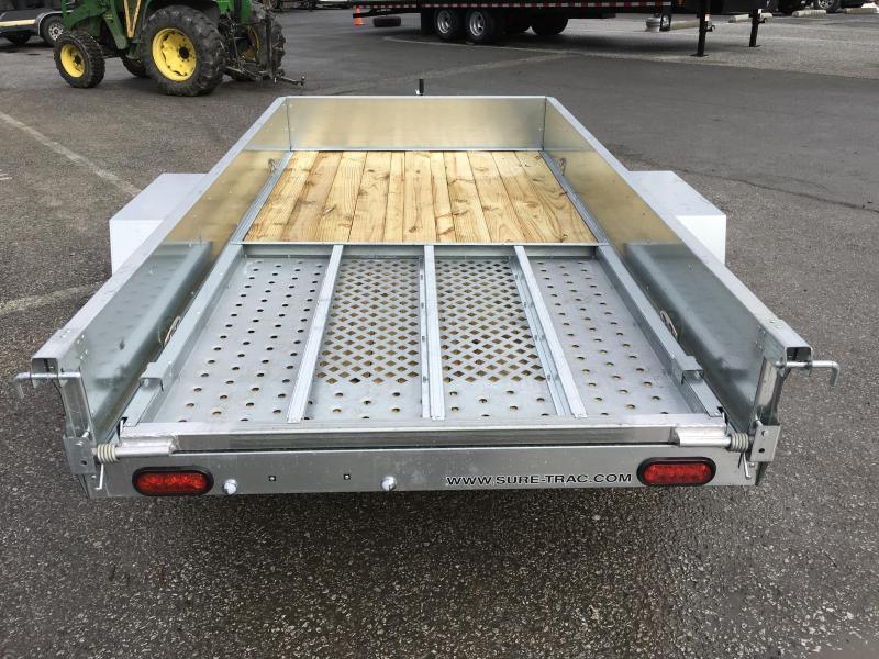 2019 Sure-Trac 5x10' Galvanized High Side Utility Trailer 2990# GVW