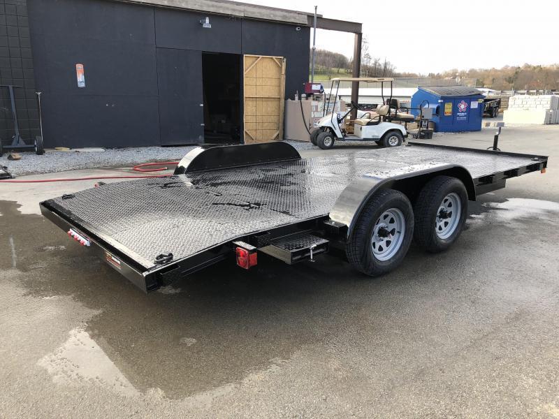 2019 AMO 7x16' Steel Deck Car Trailer 7000# GVW