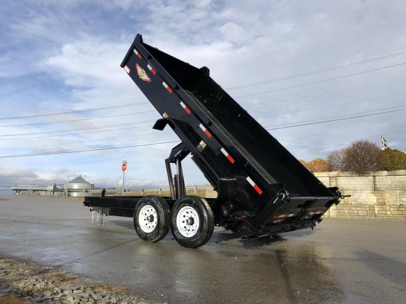 2019 H&H 7X14' 14000# Low Profile Dump Trailer H8314DBW-B-140 * CLEARANCE - FREE ALUMINUM WHEELS