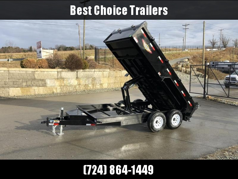 2019 H&H 7X14' 14000# Low Profile Dump Trailer H8314DBW-B-140