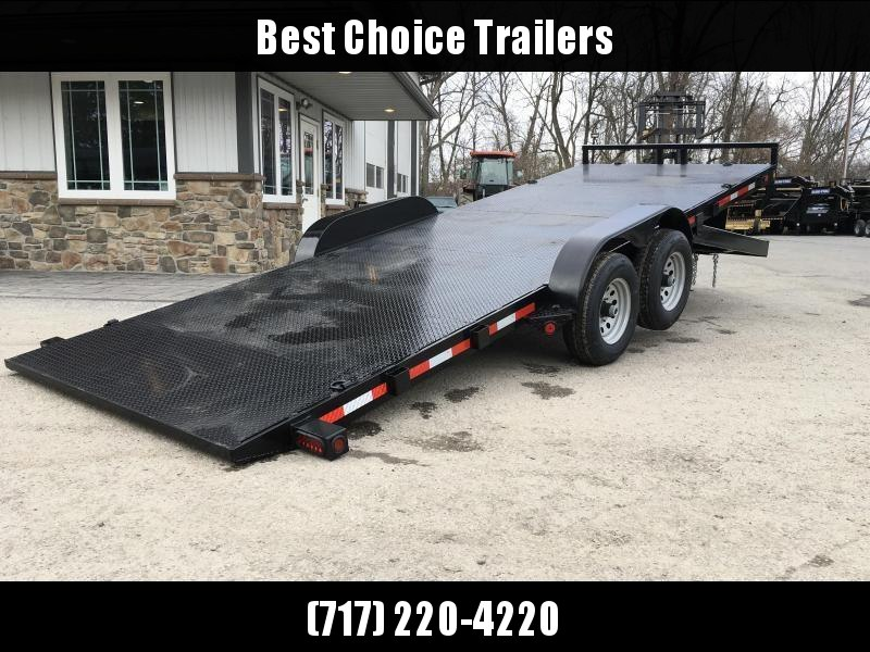2018 QSA 7x20' 9850# GVW Power Tilt Equipment Trailer * STEEL FLOOR UPGRADE