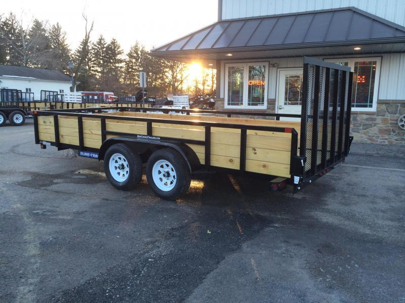 2019 Sure-Trac 7x14' Tube Top Three Board High Side Landscape Utility Trailer 7000# GVW