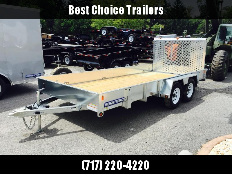 2018 Sure-Trac 7X16' Galvanized High Side Landscape Utility Trailer 7000#