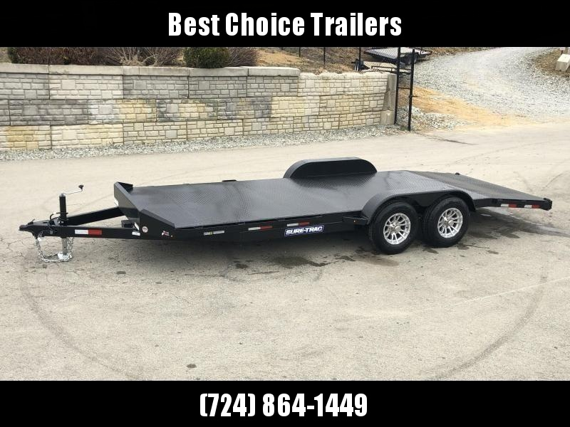2019 Sure-Trac 7x18' Steel Deck Car Hauler 7000# GVW * 4' BEAVERTAIL - LOW LOAD ANGLE * ALUMINUM WHEELS * REMOVABLE FENDERS * WINCH PLATE in Ashburn, VA