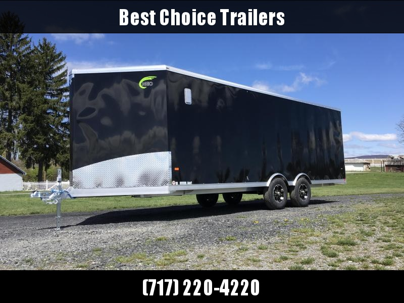 "2018 NEO 8.5x22' NMS Aluminum Round Top Enclosed All Sport Car Hauler Trailer 9990# GVW NMS2285TR * FRONT NXP RAMP * 5200# DEXTER TORSION * 4-LED POWER PKG  * ARCTIC CORD * CEILING LINER * VINYL WALLS * ALUMINUM VENTS * SLIDE OUT STEP * 16"" ALUMINUM WHEEL"