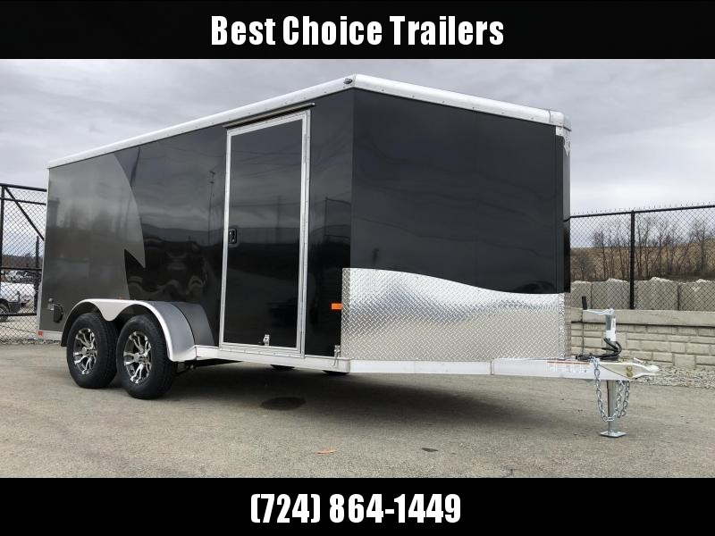 "2020 NEO Trailers 7x14' NAMR Aluminum Enclosed Motorcycle Trailer * BLACK & CHARCOAL * VINYL WALLS * ALUMINUM WHEELS * +6"" HEIGHT * NUDO FLOOR & RAMP"