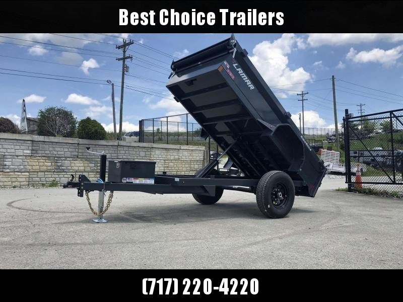 2019 Lamar 5x10' DS60 Dump Trailer 7000# GVW - SINGLE AXLE * TARP KIT * RAMPS * SPARE MOUNT * CHARCOAL in Ashburn, VA
