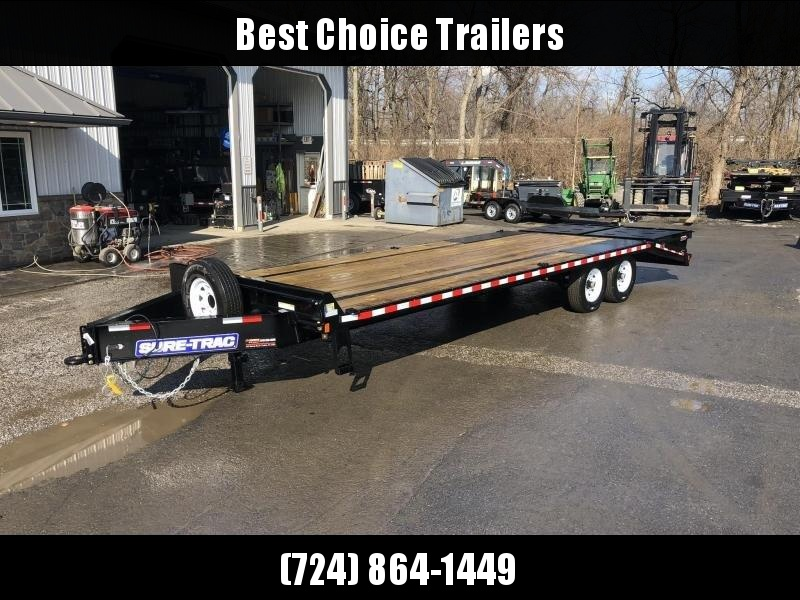 2020 Sure-Trac 102x20+5 15K Beavertail Deckover Trailer * FULL WIDTH RAMPS