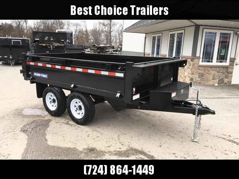2018 Sure-Trac 6x10' SD Deckover Dump Trailer 9900# GVW * FOLD DOWN SIDES * HIGH SIDES * BARN DOORS * CLEARANCE - FREE ALUMINUM WHEELS