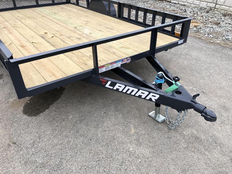 2019 Lamar 7x14' 2990# Landscape Utility Trailer * ATV RAMPS * CHARCOAL