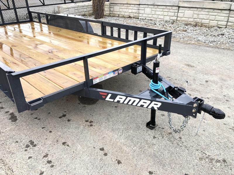 2019 Lamar 7x16' ATV Utility Trailer 7000# GVW * ATV SIDE RAMPS * 7' WIDTH * CHARCOAL