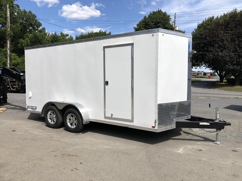 2019 Sure-Trac 7x16' Enclosed Cargo Trailer 7000# GVW * WHITE