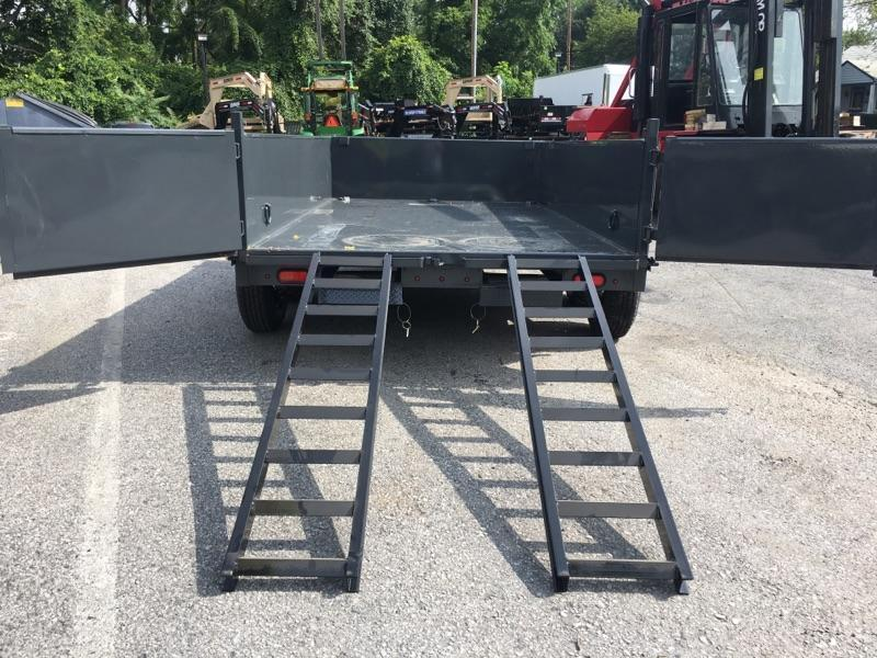 2019 Lamar 7x12' Dump Trailer 14000# GVW * 14-PLY RUBBER * 7GA FLOOR * TARP * RAMPS * SPARE MOUNT * 12K JACK * CHARCOAL WITH BLACK WHEELS