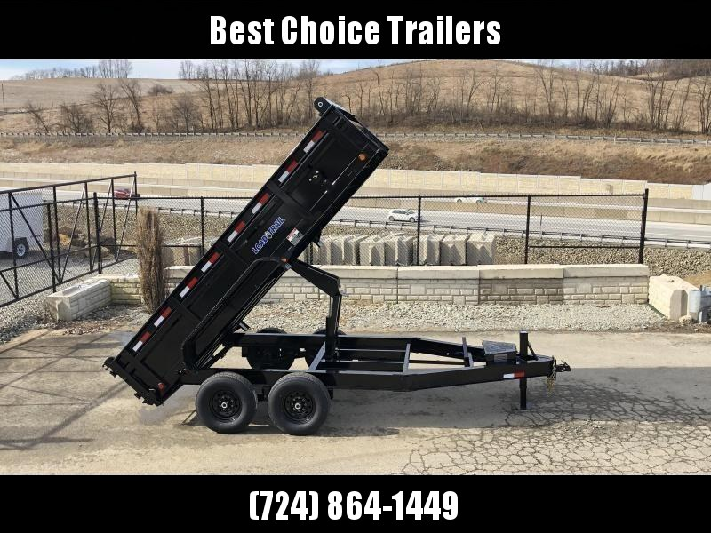 "2019 Load Trail 7x14' Dump Trailer 14000# GVW * DT8314072 * SOLAR * 8"" I-BEAM FRAME * 12K JACK * 3-WAY GATE * TARP KIT * SCISSOR HOIST * 10GA 2PC SIDES & FLOOR * 6"" TUBE BED FRAME * 110V CHARGER * DEXTER'S * 2-3-2 * POWDER PRIMER"