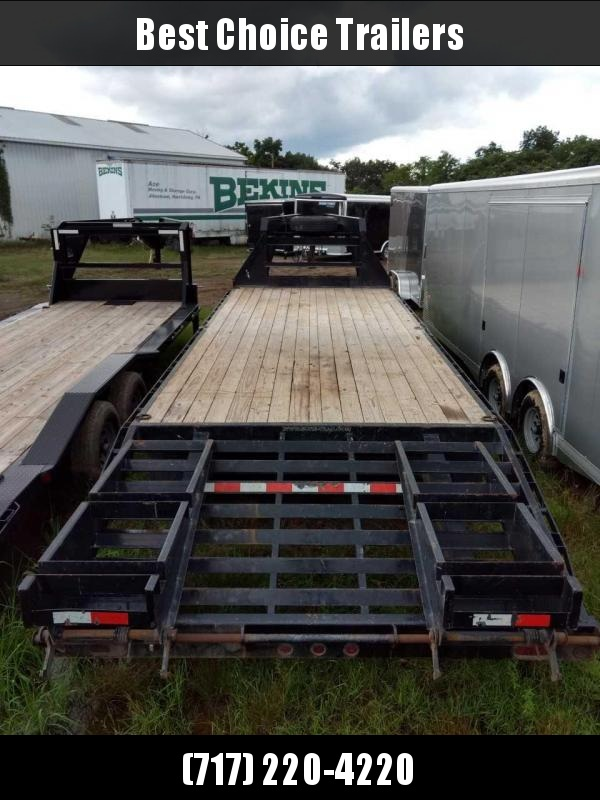 USED 2016 Sure-Trac 102x20+5 15000# Gooseneck Beavertail Deckover Trailer