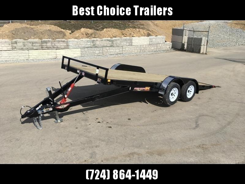 2018 H&H 7x18' MX Manual Tilt Car Hauler 7000# GVW  * CLEARANCE - FREE ALUMINUM WHEELS