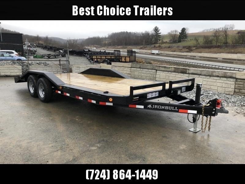 "2018 Iron Bull 102""x20' Wood Deck Car Trailer 9990# GVW * 102"" DECK * DRIVE OVER FENDERS"