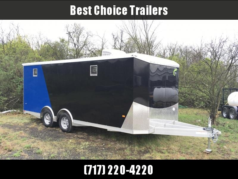2018 NEO 8.5x20' NACX Aluminum Spread Axle Round Top Enclosed Car Hauler Trailer 9990# GVW * GENERATOR DOOR * VINYL CEILING * 4-LED STRIP LIGHT * A/C UNIT * 50 AMP ALEC * EXTRUDED FLOOR/RAMP in Ashburn, VA
