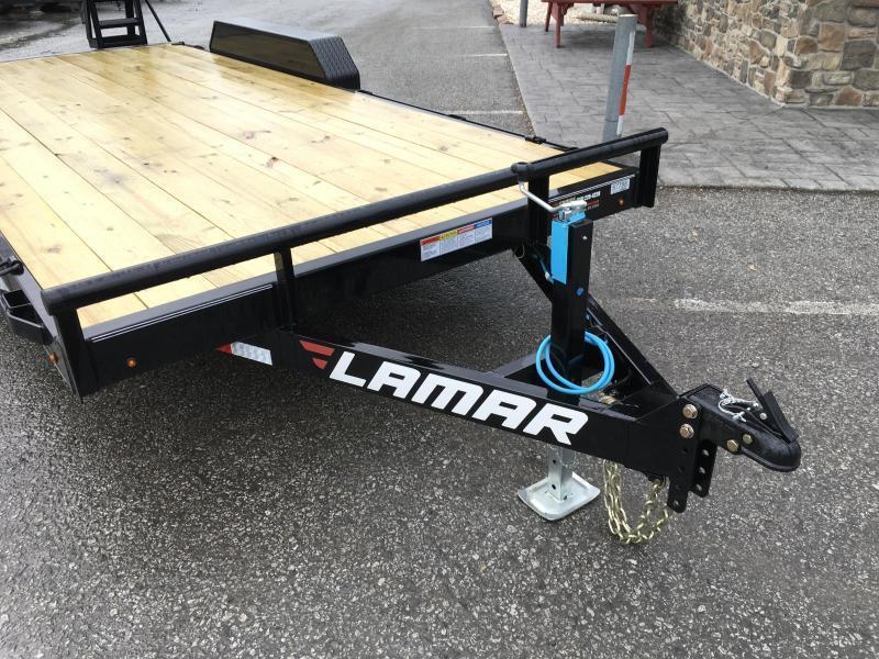 2019 Lamar 7x18' 9990# Lowboy Equipment Trailer * DROP LEG JACK * ADJUSTABLE COUPLER