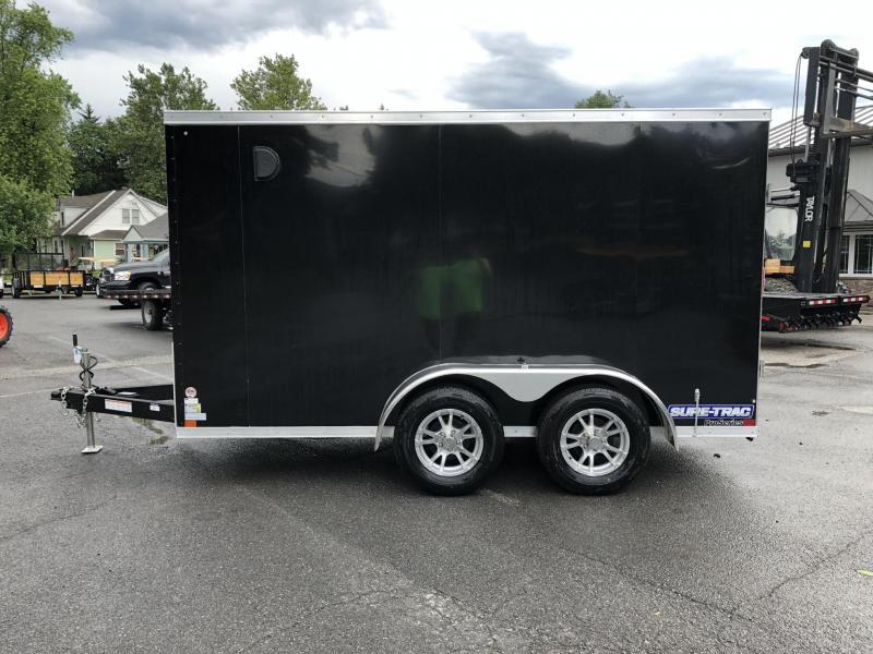 2019 Sure-Trac 6x12' Enclosed Cargo Trailer 7000# GVW * BLACK * BARN DOORS * LOADED
