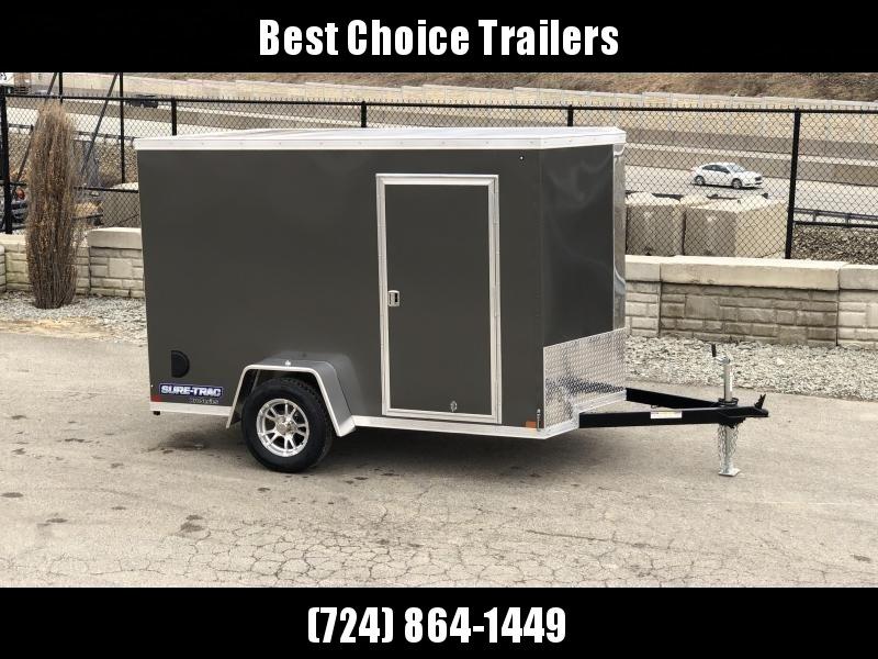 2019 Sure-Trac 6x12' STW Enclosed Cargo Trailer 2990# GVW * CHARCOAL * RAMP DOOR