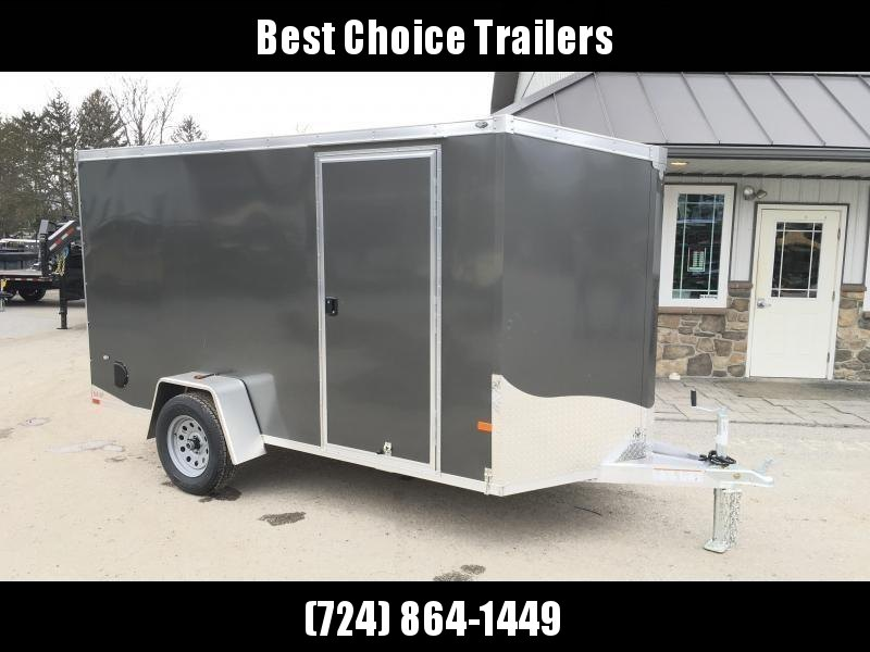 2019 Neo 6x12 NAVF Aluminum Enclosed Cargo Trailer * RAMP DOOR * CHARCOAL