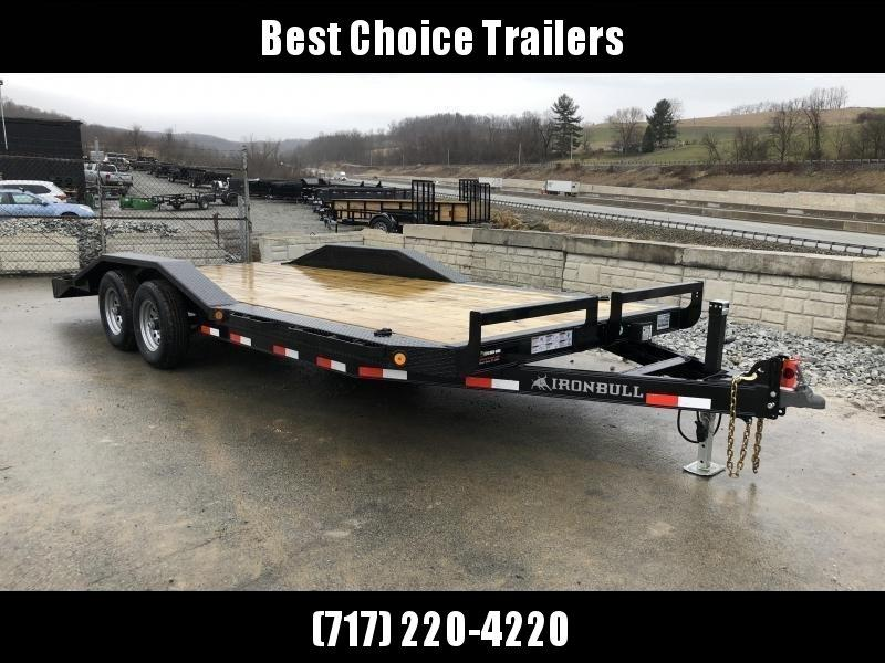 "2018 Iron Bull 102""x22' Wood Deck Car Trailer 9990# GVW * 102"" DECK * DRIVE OVER FENDERS"