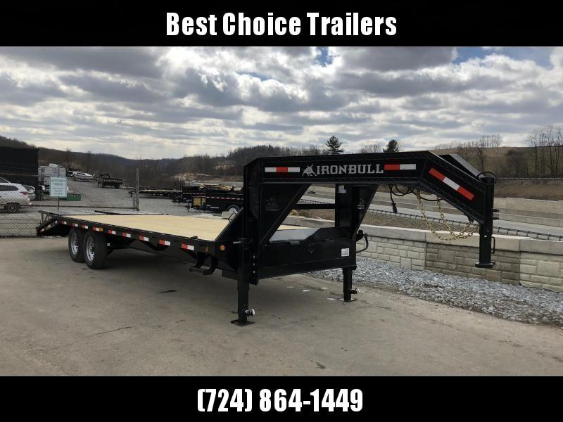 2018 Ironbull 102x20+5' Gooseneck Beavertail Deckover Flatbed 14000# * FULL WIDTH RAMPAGE RAMPS