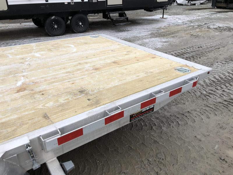 2018 H&H 7x20' Manual Tilt Aluminum Car Hauler 9990# GVW * SPARE MOUNT * CLEARANCE + ALUM SPARE