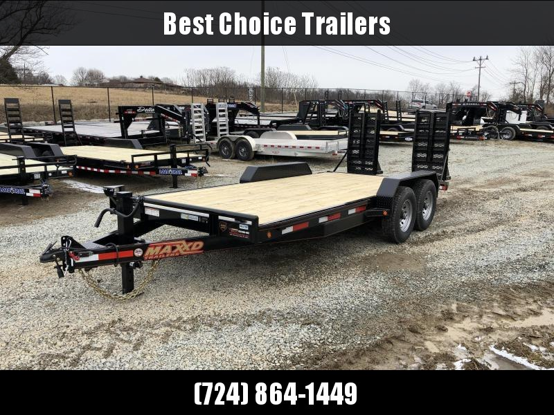 2019 Maxxd 7x18' Equipment Trailer 14000# GVW * C6X8318 * 8' BI-MAX RAMP UPGRADE * CLEARANCE - FREE ALUMINUM WHEELS