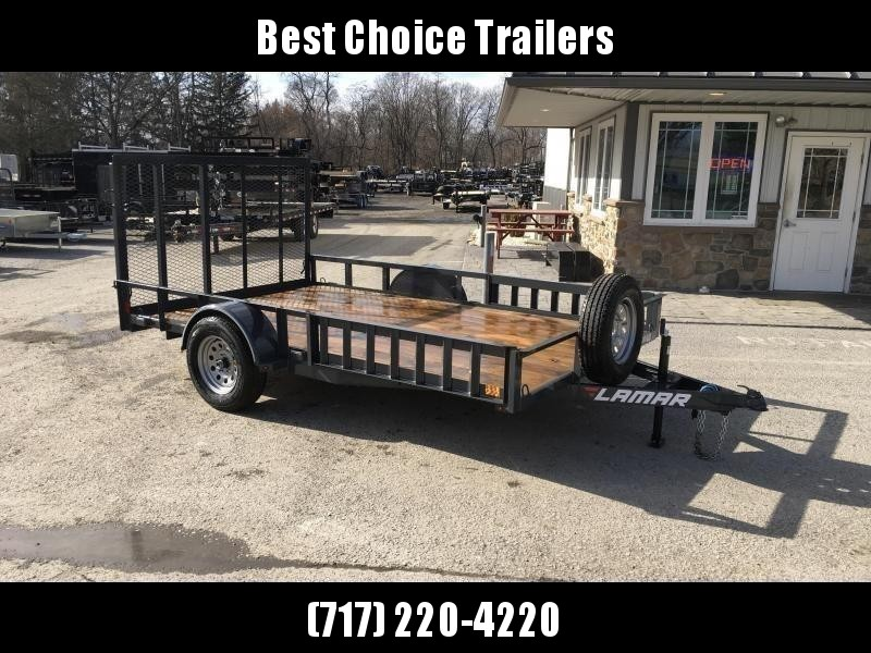 2018 Lamar 7x12' 2990# Landscape Utility Trailer ATV RAMPS CHARCOAL * CLEARANCE - FREE SPARE TIRE & MOUNT