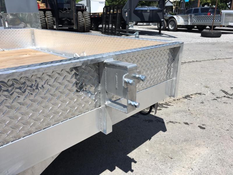 2019 QSA 7x14' 7000# GVW Aluminum Landscape Utility Trailer ATP SIDES