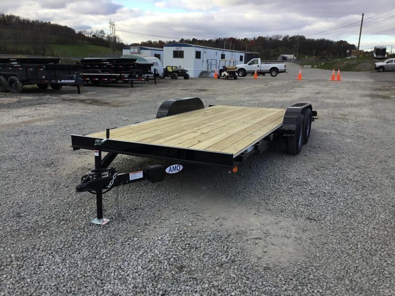 2018 AMO 7x18' Wood Deck Car Trailer 7000# GVW * FREE SPARE TIRE * CLEARANCE PRICING