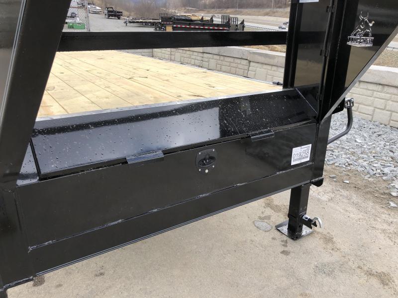2019 Ironbull 102x27+5' Gooseneck Beavertail Deckover Flatbed 22000# * FULL WIDTH RAMPAGE RAMPS * PIERCED FRAME * SPARE TIRE * UNDER FRAME BRIDGE