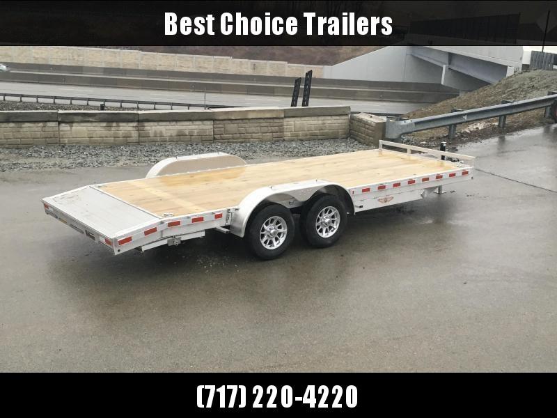 2018 H&H 7x18' Aluminum Car Hauler 7000# GVW ALUMINUM WHEELS HEAVY FRAME * SPARE MOUNT * EXTRUDED BEAVERTAIL * FREE SPARE TIRE in Ashburn, VA