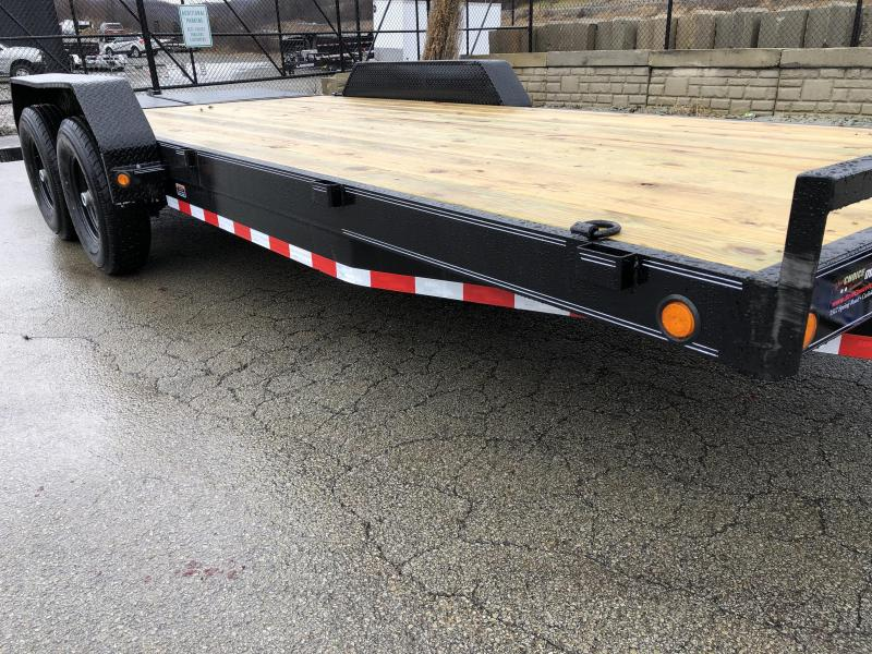 2019 Load Trail 7x20' Equipment Trailer 14000# GVW * CH8320072 * FULL WIDTH MAX RAMPS * D-RINGS * COLD WEATHER * DEXTER'S * 2-3-2 * POWDER PRIMER