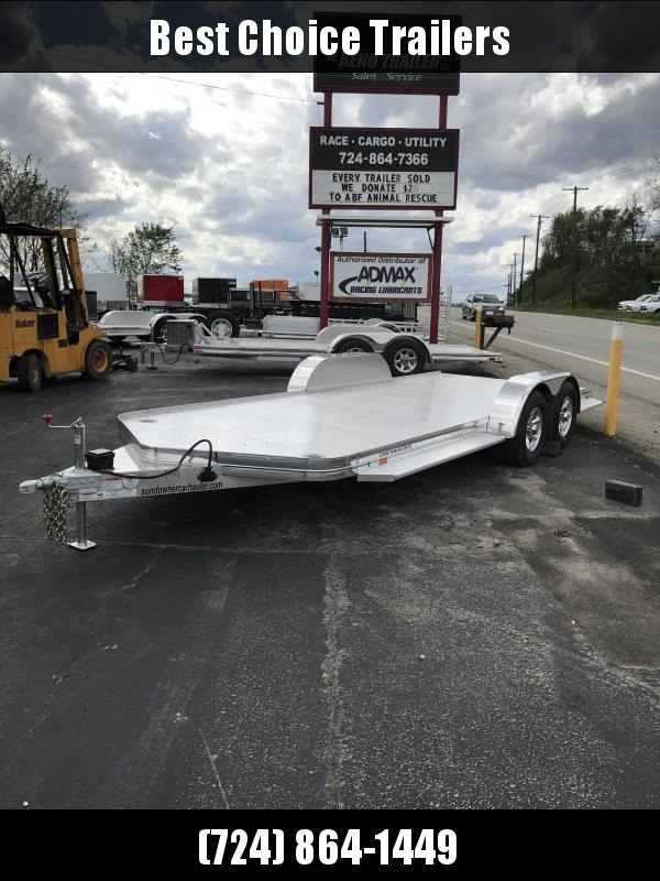 2019 Sundowner Trailers 7x19' 8050# GVW All Aluminum Car Hauler Trailer CH20BP * 4000# AXLES * TORSION * EXTRUDED FLOOR * POLISHED * CLEARANCE