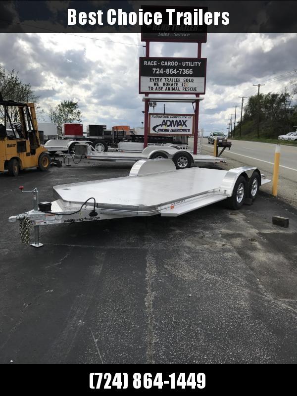 2019 Sundowner Trailers 7x19' 8050# GVW All Aluminum Car Hauler Trailer CH20BP * 4000# AXLES * TORSION * EXTRUDED FLOOR * POLISHED * CLEARANCE