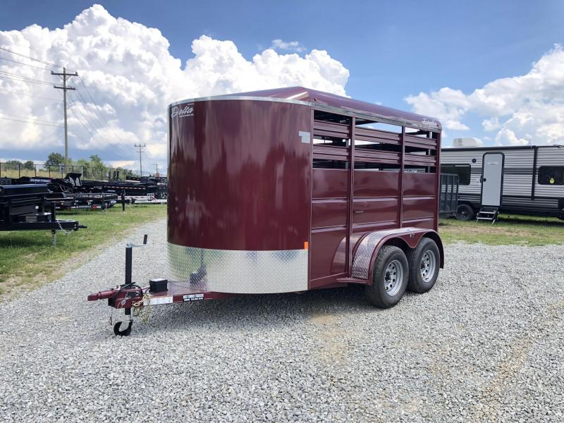 2019 Delta Manufacturing 500ES 12' Livestock Trailer * BURGUNDY