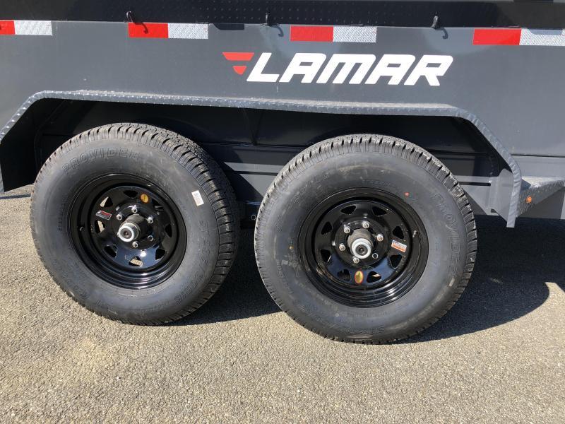 2018 Lamar DM 77x12' 9990# Low Profile Dump Trailer * 12K JACK * TARP KIT * ADJUSTABLE COUPLER * CHARCOAL * SPREADER GATE